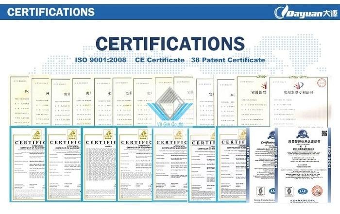 Máy được sản xuất theo tiêu chuẩn CE
