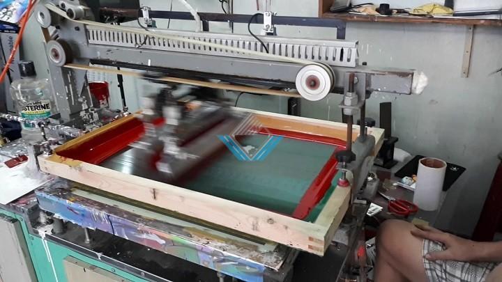 Cấu tạo máy in lụa